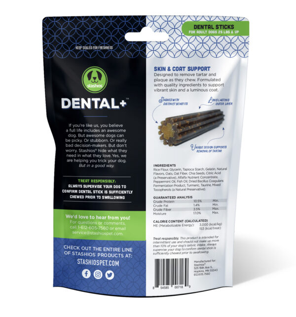 dental skin coat back stashios pet