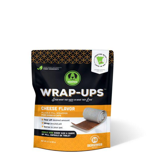 wrap-ups cheese flavor front stashios pet